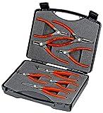 KNIPEX 00 21 25 Präzisions-Sicherungsringzangen-Set 8-teilig
