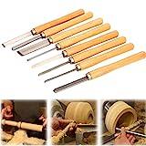 uyoyous 8 Stück meißel set Kohlenstoffstahl drehmeissel set Stechbeitel Drechselmesser Schüsseldrehröhre Set Holzdrehung Werkzeugen für Das Drech