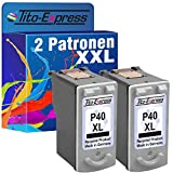 Tito-Express PlatinumSerie 2X Druckerpatrone für Canon PG-40XL Black Pixma IP2200 MP210 MP220 MP450 MP460 MX300 MX310