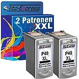 Tito-Express PlatinumSerie 2X Druckerpatrone für Canon PG-40XL Black Pixma MP450 Fax JX 200 Fax JX 210 P Fax JX 510