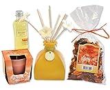 REIMA AirConcept GmbH Duft-Geschenk Raumduft Trio Orange inklusive Aroma Diffusor sowie Duftkerze und Potpourri