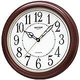 Rhythm 7269/20 Quartzuhr mit Westminstermelodie, KunststoffgehŠuse, LautstŠrkeregelung, Nachtabschaltung braun