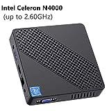 Mini PC Lüfterlos Intel Celeron N4000 (bis zu 2,6 GHz) 4GB DDR4/64GB eMMC Mini-Desktop-Computer...
