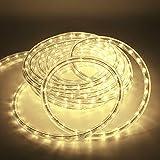 Kefflum LED Lichtschlauch,led schlauch, Lichterkette Licht Leiste 36LEDs/M Schlauch für Innen und Außen IP65 14M Warmweiß