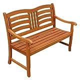 IND-70287-GB2 Gartenbank 2-Sitzer Montana, Sitzbank aus Holz - 120 x 65 x 91 cm