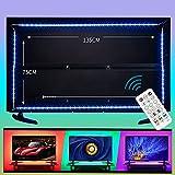 wobsion led tv hintergrundbeleuchtung led fernseher beleuchtung,tv licht hintergrund,tv backlight,4M USB RGB Beleuchtung für 60-70 Zoll,LED Strip Dimmbar mit RF-Ferbedienun