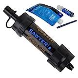 Sawyer MINI PointONE Wasserfilter für Outdoor Camping Wasseraufbereitung , Schwarz