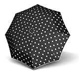 Knirps Stick Long Automatic Stockschirm/Regenschirm, Dot Art Black, Länge ca. 88 cm, Durchmesser ca. 5 cm