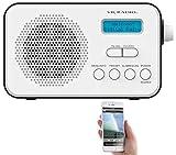 VR-Radio Mobiles DAB Radio: Mobiles Akku-Digitalradio mit DAB+ & FM, Wecker, Bluetooth 5, 8 Watt...