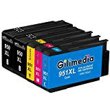Gilimedia 950 XL 950XL 951xl Multipack Ersatz für HP 950xl 951xl Druckerpatronen für HP Officejet Pro 8610 8600 8620 8100 8615 8616 276dw 8630 251dw 8640 8660 8625 (2 Schwarz 1 Cyan 1 Magenta 1 Gelb)