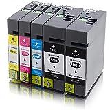 Kompatible Patronen PGI-2500 für Canon Maxify iB4000 iB4050 iB4150 MB5000 MB5050 MB5150 MB5300 MB5350 MB5450 ms-point (5er Sparset)
