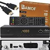 Bamof BE-2607 Digital Satelliten Sat Receiver - ( HDTV , DVB-S/S2 , HDMI , SCART , 2X USB 2.0 , Full...