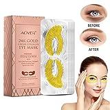 BOBORA 24K Gold Caviar Collagen Eye Mask Feuchtigkeitsspendende straffende Haut Entfernen Sie schwarze Kreise unter Augenklappen für geschwollene Augen Augentaschen Anti-Aging-Gel-Augenpads