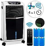 KESSER® 4in1 Mobile Klimaanlage | Fernbedienung | Klimagerät | Ventilator Klimaanlage | 8 L Wasser/Eis Tank | Timer | 3 Stufen | Ionisator Luftbefeuchter | Luftkühler | (Weiss/Schwarz)