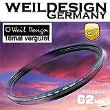 Polfilter POL 62mm Circular Slim XMC Digital Weil Design Germany SYOOP * Kräftigere Farben * Frontgewinde * 16 Fach XMC vergütet * inkl. Filterbox * zirkulare (POLFILTER 62mm)