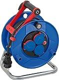 Brennenstuhl Garant IP44 Kabeltrommel, 20m - Spezialkunststoff (kurzfristiger Einsatz im Außenbereich, Made in Germany) blau