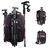 WFIZNB DSLR Kamera-Rucksack,Zugstange Typ Boarding-Paket Kamera Fotorucksack für Canon Nikon Sony SLR Spiegelreflexkamera mit Regenschutzhülle Reise Sport Schwarz
