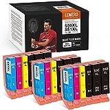 18 LEMERO SUPERX 550XL 551 XL Ersatz für Canon PGI-550 CLI-551 Druckerpatrone Kompatibel mit Canon PIXMA IP7250 IP8750 MX925 MG5650 IX6850 MX725 MG5550 MG6350 MG6450 MX920(9B/3C/3M/3Y)