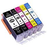 ESMOnline 5 komp. XL Druckerpatronen Canon Pixma MG 5450 5550 5650 5655 6350 6450 6650 7100 7150 7550 MX 725 925 iP 7200 7250 8750 iX 6850