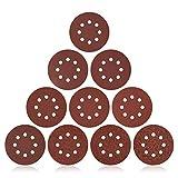 Schleifpapier 125mm Klettverschluss,JUEMEL 160 Stück Schleifscheiben Set Für Exzenterschleifer, 8 Loch, P60 P80 P100 P120 P150 P240 P320 P400 P600 P1000
