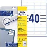 AVERY Zweckform 4780 Universal Etiketten (1.000 plus 200 Klebeetiketten extra, 48,5x25,4mm auf A4,...