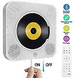 Tragbarer CD Player, wandmontierbar Bluetooth eingebaute HiFi-Lautsprecher für Kinder, die...