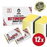 ALPHA MEDICAL® - 12 Stück - Premium Rettungsdecke Gold/Silber im Vorteilspack - 210 x 160cm - Erste Hilfe Decke - Aludecke - Notdecke - Wärmefolie