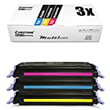 3X Eurotone Toner für Canon I-Sensys LBP 5000 5100 wie 707 CRG-707 Color