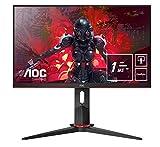 AOC Gaming 24G2U5/BK 60 cm (23,8 Zoll) Monitor (FHD, HDMI, DisplayPort, Free-Sync, 1ms Reaktionszeit, 75 Hz, 1920x1080) schwarz/rot