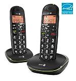 Doro PhoneEasy 100w Duo DECT Schnurlostelefon mit zusätzlichem Mobilteil (Ladeschale, Freisprechen)...