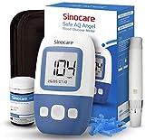 sinocare Safe AQ Angel Blutzuckermessgerät Set mit Teststreifen x25, [2020 Upgrade] Schmerzfrei, Schnell Ergebnis in 5s - mg/dL (set x25)