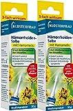 Klosterfrau Hämorrhoiden Salbe, Doppelpackung 2 x 30 g Tuben mit Hamamelis zur akuten Behandlung von Analbeschwerden