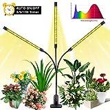 LED Pflanzenlampe Vollspektrum für Zimmerpflanzen | 120 LEDs | 27W | Flexibles Grow Light | Pflanzenlicht mit Timing Funktion, 3 Modus, 10 Helligkeitsstufen | 360°Einstellbar | USB Anschluss | SOLMORE