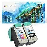 2 Tintenpatronen kompatibel zu Canon PG-40 CL-41 für Pixma iP1600 iP1800 iP1900 iP2200 iP2500 iP2600 MP140 MP150 MP160 MP170 MP180 MP190 MP210 MP450 MP460 MX300 MX310 - Schwarz/Color, hohe Kapazität