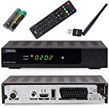 Anadol HD 202c Plus PVR Aufnahmefunktion-Timeshift digitaler Full HD 1080p Kabel-Receiver [Umstieg Analog auf Digital] (HDTV, DVB-C / C2, HDMI, SCART, Coaxial, Mediaplayer, USB 2.0) – inkl. WLAN-Stick
