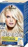 Schwarzkopf Blonde Aufheller L100 Platin Eisblond Haarentfärber, Stufe 3, 3er Pack (3 x 180 ml)