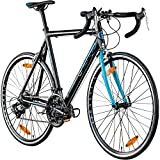 Galano Rennrad 700c Giro D'Italia Fahrrad 28' Fitnessbike Road Bike 14 Gänge (schwarz/blau, 59 cm)