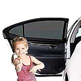 Sonnenschutz Auto(2 Stück), Sonnenschutz fürs Auto Baby mit UV Schutz Selbsthaftende Sonnenblende Auto Kinder Autosonnenblende, Auto Sonnenschutz Netz, Autofenster Sonnenschutzrollos Heckscheibe