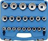 BGS 2267 | Steckschlüssel-Einsatz-Satz Zwölfkant | 21-tlg. | 12,5 mm (1/2') | SW 8 - 36 mm | CV-Stahl