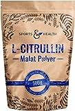 L-Citrullin-Malat Pulver als 500g Citrulin Pulver in einem Perfekten 2:1 Verhältnis mit extra Dosierlöffel