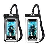 Schwimmende wasserdichte Handy-Tasche [2 Stück], schwimmfähige Handy-Hülle mit Umhängeband für...