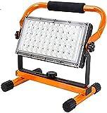 Baustrahler LED Akku, Orthland 40W 3500 Lumen LED Arbeitsleuchte Akku Strahler Tragbar Arbeitsscheinwerfer, Baustellenlampe Bauscheinwerfer für Werkstatt Baustelle Garage Außen Beleuchtung für Camping