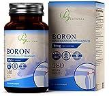 HN Boron Ergänzung | 180 Vegane Bor Tabletten | 6mg pro Portion | Gentechnikfrei, Gluten-, Milch- & Allergenfrei | Hergestellt in ISO-zertifizierten Betrieben in Großbritannien