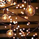 Lichterkette Glühbirnen IP65 Wasserfest, Avoalre G40 warmweiss 30 Glühbirnen Lichterkette außen, 10M Innen/Aussenbeleuchtung (max. 50 M) Ausdehnbar Outdoor Lichterkette für Garten,Balkon,Hof,Hochzeit