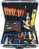 Famex 636-10 Elektriker Meister Werkzeugkoffer Set, 35-teilig, mit ABS Schalenkoffer 32 L