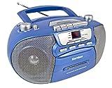 Karcher RR 5040 Oberon tragbares CD-Radio (AM/FM-Radio, CD, Kassette, AUX-In, Netz/Batteriebetrieb)...