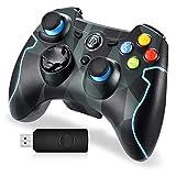 EasySMX PS3 Controller, 2,4G Wireless Gamepad, Joysticks Dual Vibration Turbo für PS3...