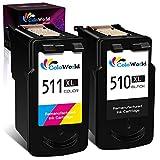 ColoWorld Remanufactured für Canon PG-510 XL Schwarz CL-511 XL Farbe Tintenpatronen für Canon Pixma MP495 MP250 MP270 MP280 MP480 MP490 MP492 MP499 MP230 iP2700 MX320 MX350 MX410 MP240 Druckers