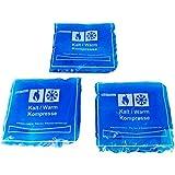 Kalt & Warm Kompresse aus Gel - Kälte & Wärme - Geeignet für Mikrowelle und Gefrierschrank (3 Stück 15x15cm)