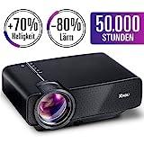 2018 Aktualisiert RAGU Z400 Mini Multimedia Tragbar Full HD Beamer, +70% Helligkeit 50,000 Stunden...
